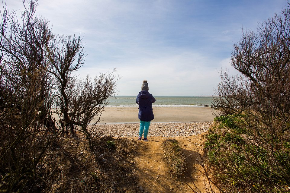 West Wittering Beach England - april 2018